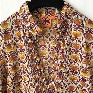TORY BURCH Floral Tunic Cotton Dress Drawstring